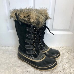 Sorel Joan of Arctic Black Waterproof Boots